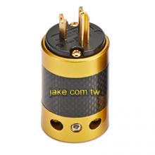 金色烤漆,碳纖維外殼,鍍金美規NEMA 5-15P音響級電源插頭