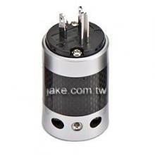銀色烤漆,碳纖維外殼,鍍銠美規NEMA 5-15P音響級電源插頭