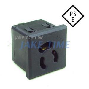 【防鬆脫插座】5-15R台灣常規鎖入式插座(日規JIS C 8303)