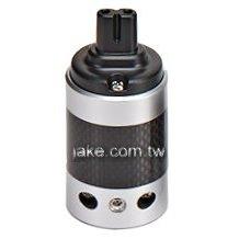 銀色烤漆,碳纖維外殼,鍍銠IEC C7歐規音響級電源插座