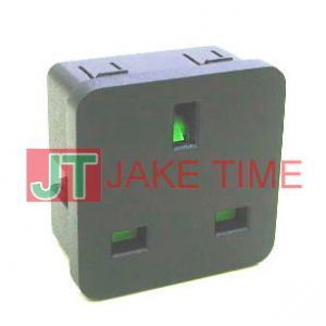 歐規英式1U size 45mm*45mm 機櫃電源插座