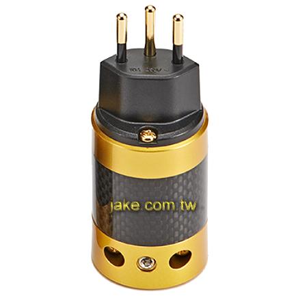 金色烤漆,碳纖維外殼,鍍金瑞士規音響級電源插頭