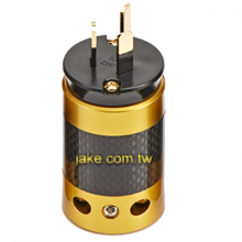 金色烤漆,碳纖維外殼,鍍金澳規音響級電源插頭