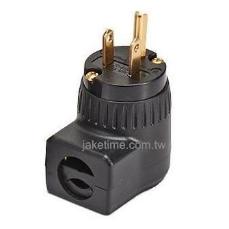 美規5-15P 90度直角電源插頭 電鍍24K金